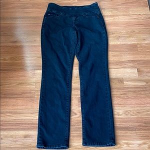 Jag Jeans pull on dark wash high rise jeans, 6